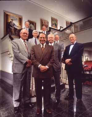 Eight Board Of Directors on Stair Case