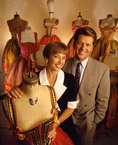 Dorothy Hamill & Husband with Mannequins
