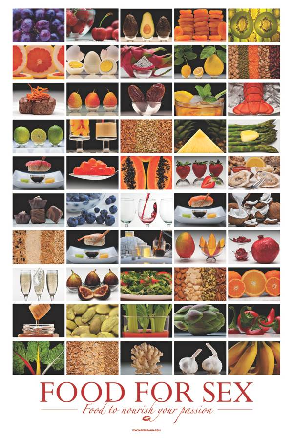 50 Foods For Sex Poster